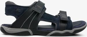 Czarne sandały Timberland w sportowym stylu