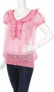 Różowa bluzka Nina Kalio z krótkim rękawem z okrągłym dekoltem