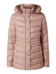 Różowa kurtka Montego w stylu casual