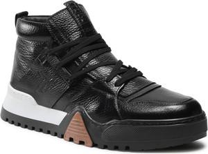 Buty sportowe Togoshi sznurowane ze skóry
