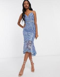 Niebieska sukienka Asos Design ołówkowa
