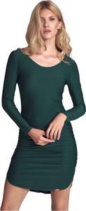 Zielona sukienka Figl z długim rękawem dopasowana