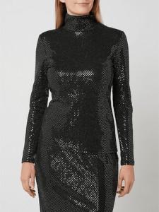 Czarna bluzka Set z długim rękawem w stylu casual