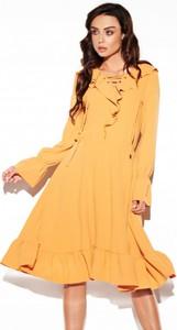 Pomarańczowa sukienka Lemoniade z długim rękawem