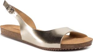 Złote sandały Gino Rossi