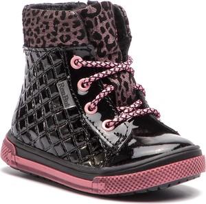 Buty dziecięce zimowe RenBut sznurowane z zamszu