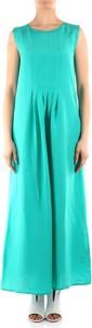 Zielona sukienka Emme Di Marella maxi bez rękawów