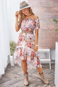 Sukienka Ivet.pl w stylu boho z dekoltem w kształcie litery v
