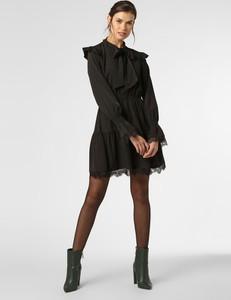 Czarna sukienka NA-KD z długim rękawem mini w stylu casual