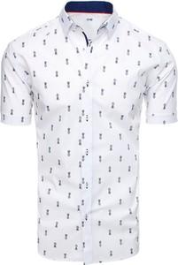 Koszula Dstreet z krótkim rękawem z kołnierzykiem button down z bawełny