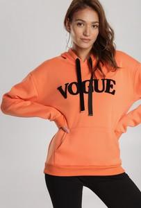 Pomarańczowa bluza Renee krótka w młodzieżowym stylu