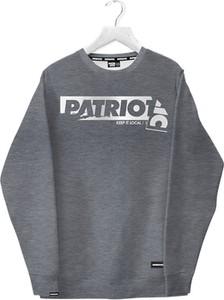 Brązowa bluza Patriotic z bawełny