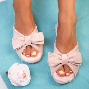 Różowe klapki Royalfashion.pl w stylu casual