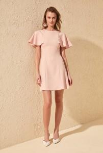 Sukienka Trendyol z okrągłym dekoltem mini