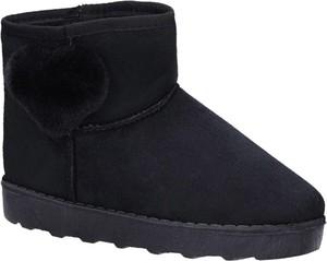 Czarne buty dziecięce zimowe Casu
