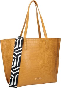 Brązowa torebka NOBO w wakacyjnym stylu na ramię ze skóry ekologicznej