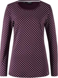 T-shirt bonprix bpc bonprix collection w stylu casual z okrągłym dekoltem z długim rękawem