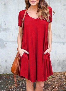 Czerwona sukienka Sandbella oversize mini