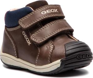 Buty dziecięce zimowe Geox na rzepy ze skóry