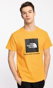 Żółty t-shirt The North Face w sportowym stylu