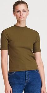 Zielona bluzka Reserved z krótkim rękawem w stylu casual