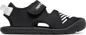 Czarne buty dziecięce letnie New Balance na rzepy