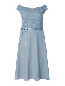 Niebieska sukienka Swing Curve z okrągłym dekoltem mini