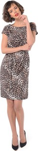 Sukienka Rita Koss w stylu casual asymetryczna z okrągłym dekoltem