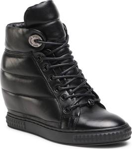 Czarne buty sportowe Eva Minge sznurowane