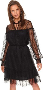 Sukienka Top Secret z tiulu z okrągłym dekoltem