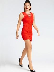 Sukienka Guess bez rękawów gorsetowa