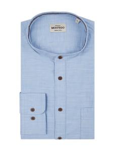 Niebieska koszula Montego z bawełny