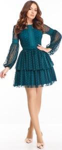 Sukienka N/A mini z długim rękawem z okrągłym dekoltem