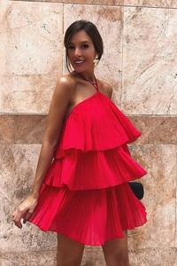 065fed5e92 Czerwona sukienka Ivet.pl mini bez rękawów