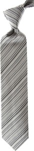 Srebrny krawat Missoni