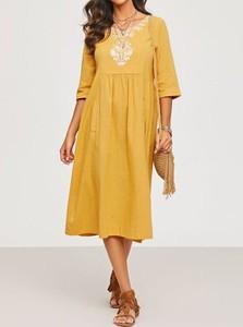 Żółta sukienka Cikelly midi