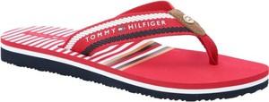 Czerwone klapki Tommy Hilfiger