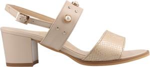 Sandały Conhpol Relax w stylu klasycznym ze skóry na średnim obcasie