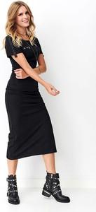 Czarna sukienka Nominou z długim rękawem