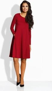 Czerwona sukienka Lemoniade z długim rękawem midi