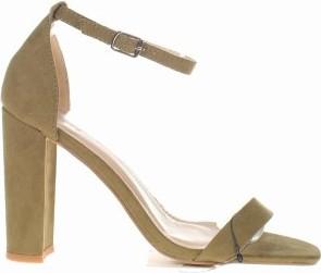 Sandały Pimkie na obcasie ze skóry z klamrami