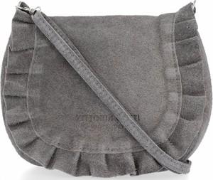 Brązowa torebka VITTORIA GOTTI zamszowa ze skóry w stylu retro