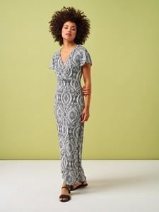 Sukienka Smashed Lemon z krótkim rękawem z dzianiny maxi