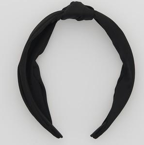 Reserved - Opaska na włosy z ozdobnym węzłem - Czarny