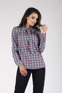 Fioletowa bluzka Nommo z długim rękawem