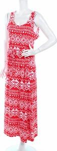 Czerwona sukienka Rouge z dekoltem w kształcie litery v na ramiączkach