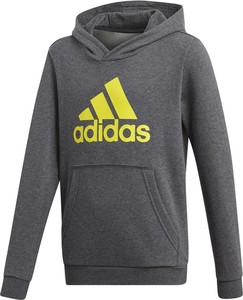 Srebrna bluza dziecięca Adidas z bawełny