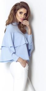 Niebieska bluzka Ivon z długim rękawem