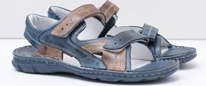 Niebieskie buty letnie męskie FLORENCE na rzepy