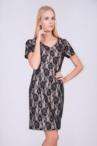 Sukienka QUIOSQUE z dekoltem w kształcie litery v prosta